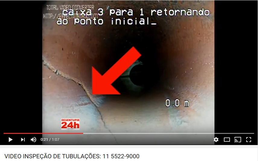 Vídeo Inspeção em Tubulações de Esgoto