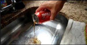 Desentupir com refrigerante