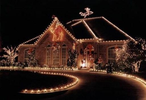 Iluminação natalina em casa