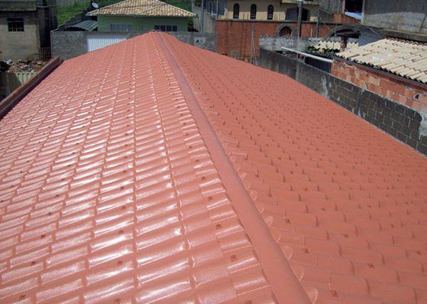 Instalação de telhas
