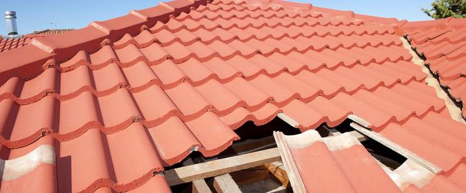 Problemas no telhado