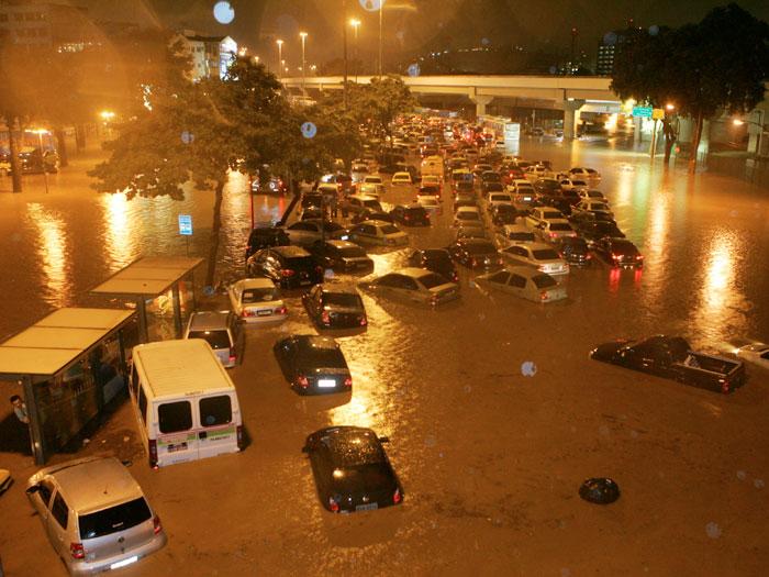 Áreas perigosas das chuvas de verão